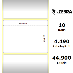 Labels Zebra - Z-Perform 1000T, size: 48 x 35